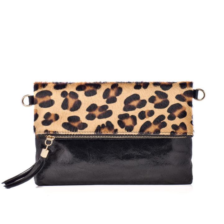 Clutch Eva stampa leopardo